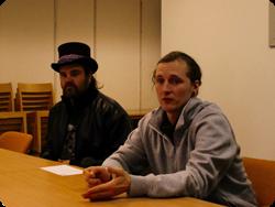 Patrik och Jonatan från Cirkus Kul & Bus.